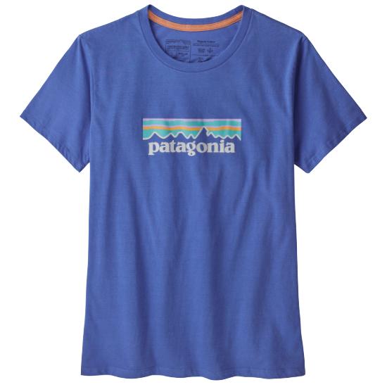 Patagonia Pastel P-6 Logo Organic Crew T-Shirt W - Float Blue