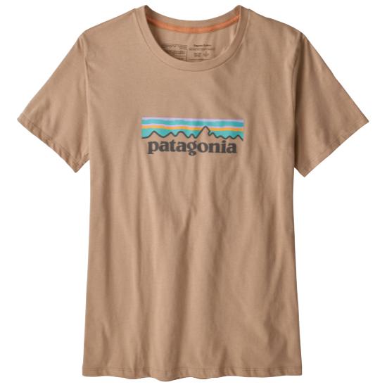 Patagonia Pastel P-6 Logo Organic Crew T-Shirt W - Pampas Tan