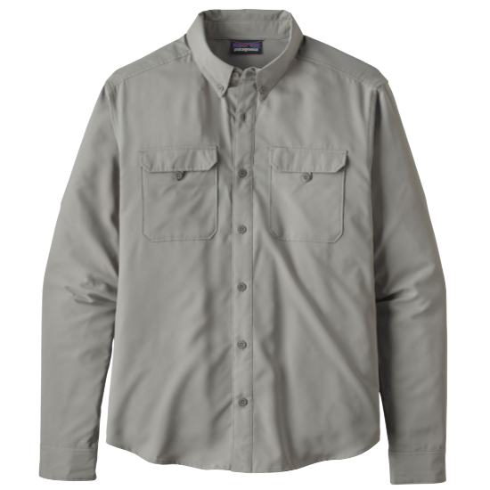 Patagonia Long-Sleeved Self-Guided Hike Shirt - Salt Grey