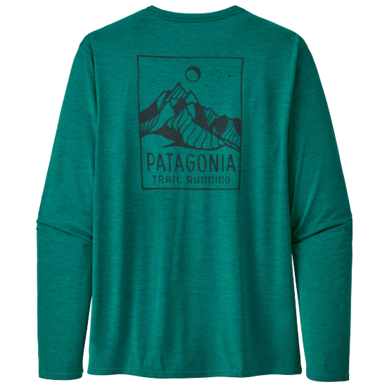 Patagonia Long-Sleeved Capilene Cool Daily Graphic Shirt - Ridgeline Runner/Borealis Green