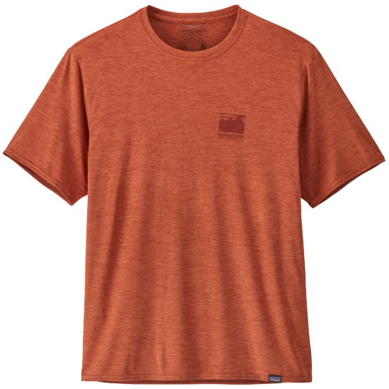 Patagonia Capilene Cool Daily Graphic Shirt - Alpine Icon/Sandhill Rust