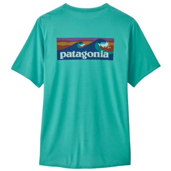 Patagonia Capilene Cool Daily Graphic Shirt - Boardshort Logo/Iggy Blue