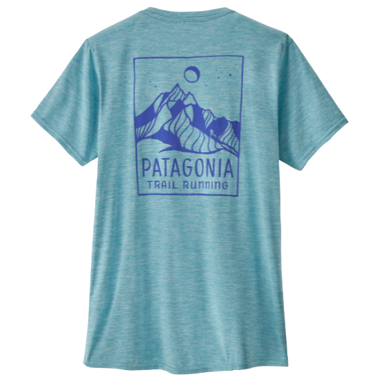 Patagonia Capilene Cool Daily Graphic Shirt W - Ridgeline Runner/Iggy blue