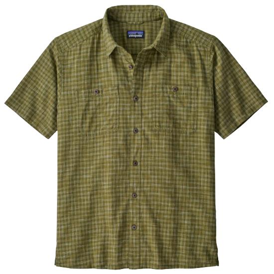 Patagonia Back Step Shirt - Ikat Net: Palo Green
