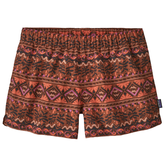 Patagonia Barely Baggies Shorts W - Mangrove Tiki Small/Henna Brown