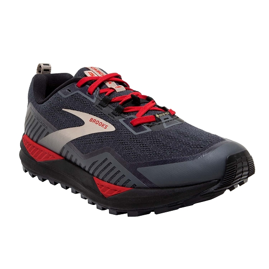 Brooks Cascadia 15 GTX - Black/Ebony/Red