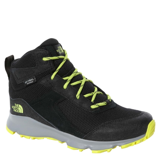 The North Face Hedgehog Hiker II Mid WP Jr - TNF Black/Sulphur Spring Green