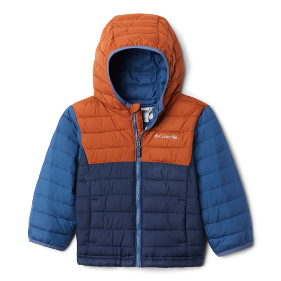 Columbia Powder Lite Hooded Boys - Blue