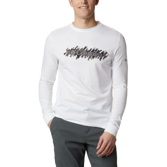 Columbia Columbia Lodge Ls Graphic Tee - White