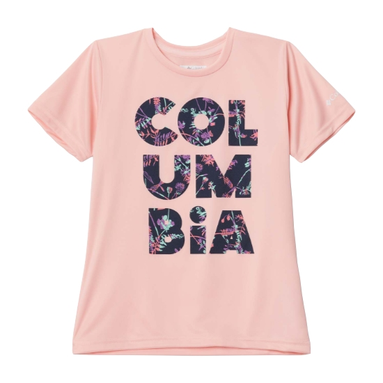 Columbia Petit Pond Graphic Tee Girl - Pink Sand Stac