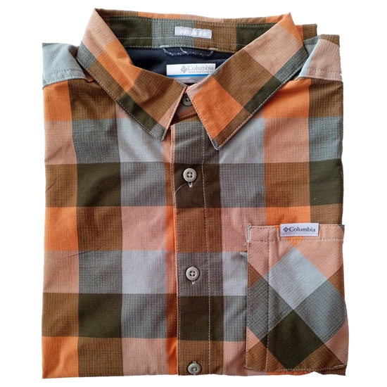 Columbia Triple Canyon Shirt - Safari Grid Buff