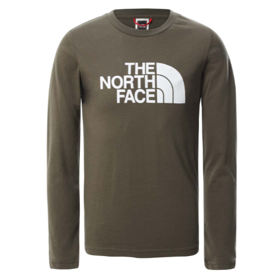 The North Face Easy LS Tee Youth - New Taupe Green