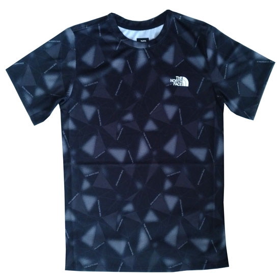 The North Face Reactor Tee Youth - Grey Scale Climb Print