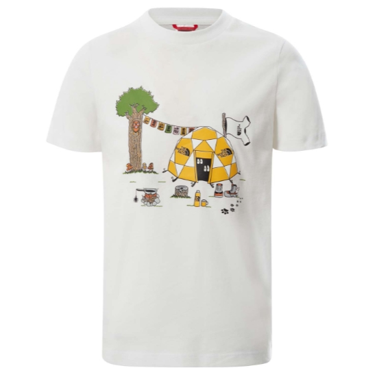 The North Face Graphic Tee Youth - White Dome Tent