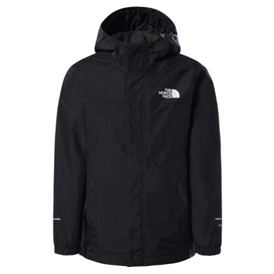 The North Face Resolve Reflective Jacket Boy - TNF Black