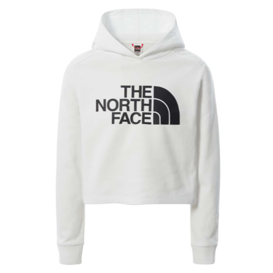 The North Face Drew Peak Cropped Hoodie Girl - TNF White