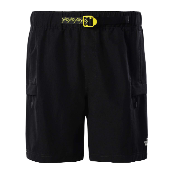 The North Face Class V Belted Shorts - TNF Black/Citrone
