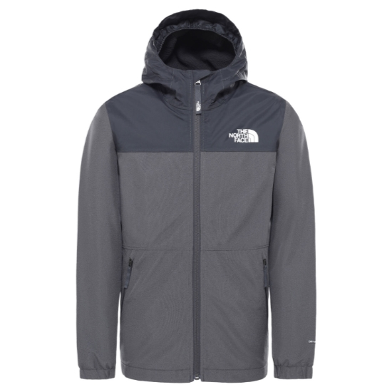 The North Face Warm Storm Rain Jacket Jr - Asphalt Grey Heather