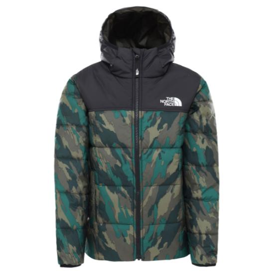The North Face Reversible Perrito Jacket Boy - Evergreen Mountain Camo Print