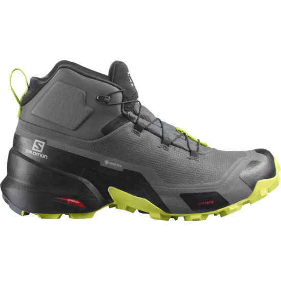 Salomon Cross Hike Mid GTX - Magnet / Black / Lime Punch