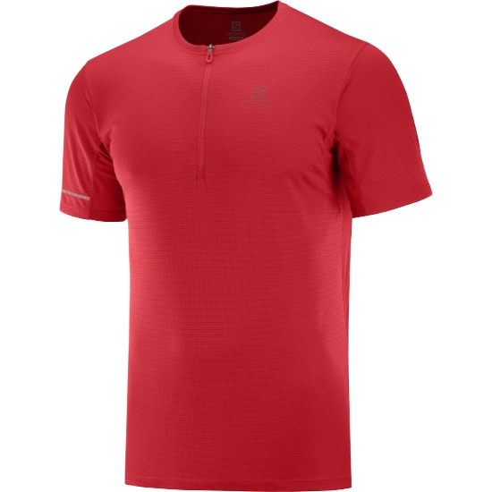 Salomon Agile HZ SS Tee - Goji Berry/Red Dahlia