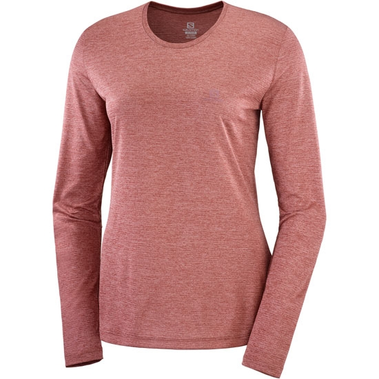 Salomon Agile LS Tee W - Brick Dust/Apple Butter