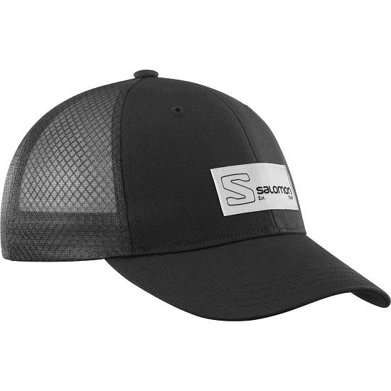 Salomon Trucker Curved Cap - Black/Black