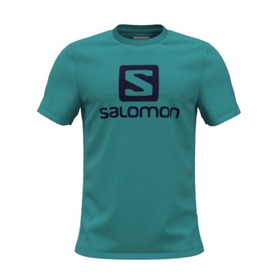 Salomon Outlife Logo Tee - Baltic/Astral Aura