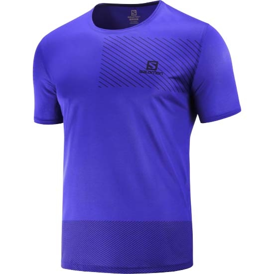 Salomon Sense Tee - Clematis Blue/Night Sky
