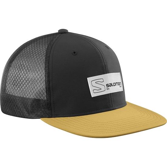 Salomon Trucker Flat Cap - Black/Cumin