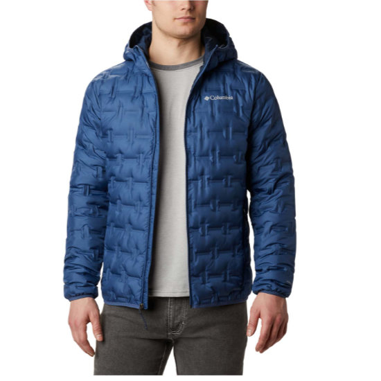 Columbia Delta Ridge Down Hooded - Blue