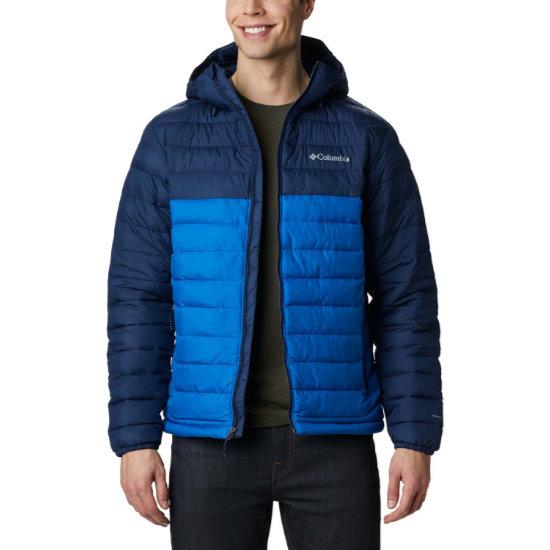 Columbia Powder Lite Hooded Jacket - Blue