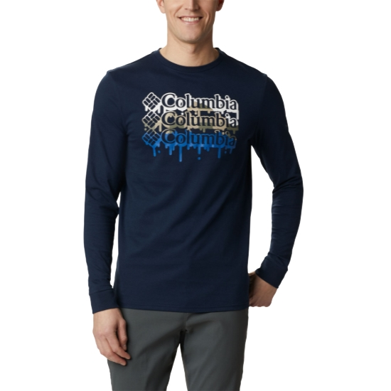 Columbia Outer Bounds Ls Graphic Tee - Blue
