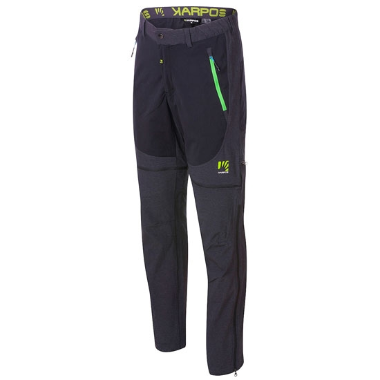 Karpos Santa Croce Zip-Off Pant - Black/Apple Green