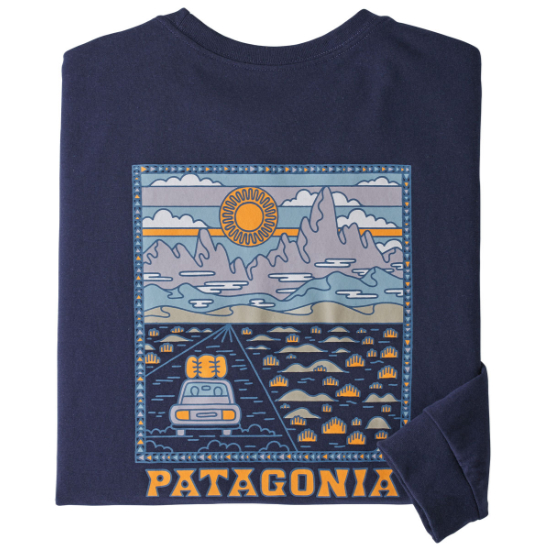 Patagonia Long-Sleeved Summit Road Responsibili-Tee - Classic Navy