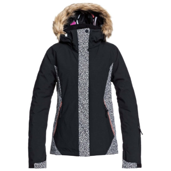 Roxy Jet Ski Jacket W - True Black Pop Animal