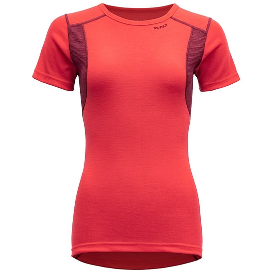 Devold Hiking Woman T-Shirt - Poppy/Beetroot