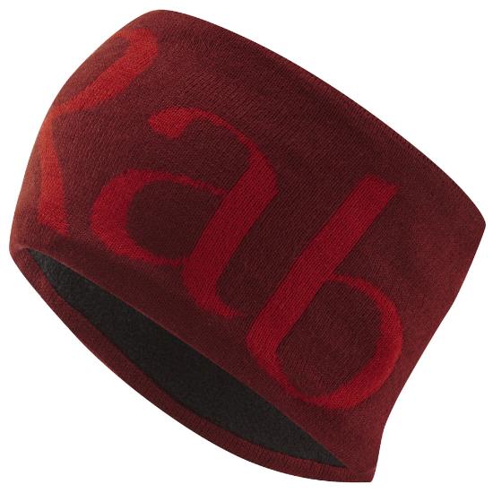 Rab Knitted Logo Headband - Oxblood Red