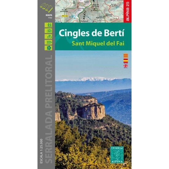 Ed. Alpina Mapa Cingles De Bertí E-25 -