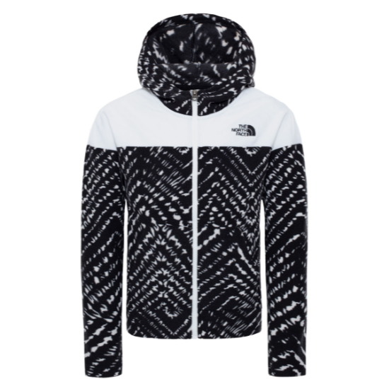 The North Face Glacier Fz Hoodie Girl - TNF Black/White