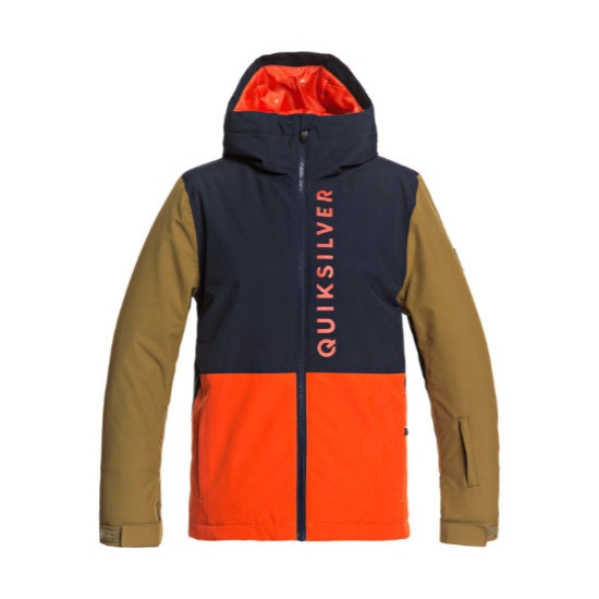 Quiksilver Side Hit Jacket Youth - Pureed Orange