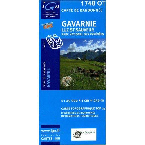 Ed. Ign France Map of Gavarnie, Luz St. Saveur -