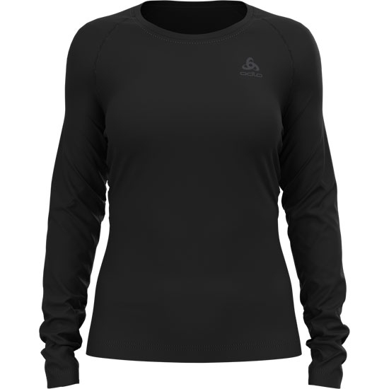 Odlo Active F-Dry Light Eco Bl Top Crew Neck L/S W - Black