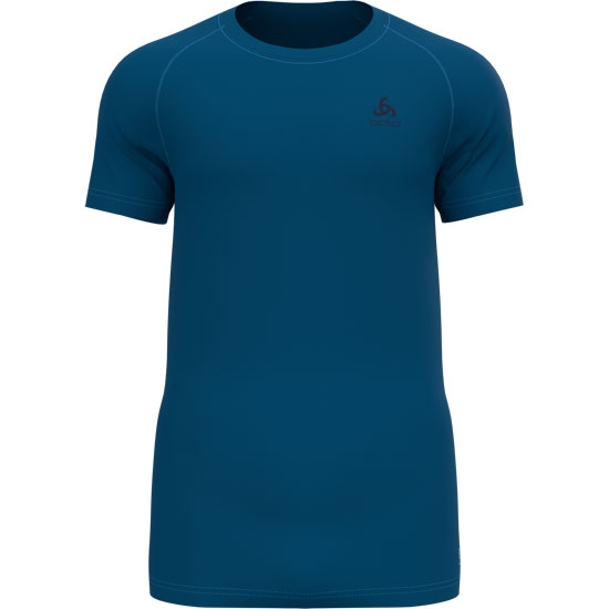 Odlo Active F-Dry Light Eco Bl Top Crew Neck S/S - Mykonos Blue