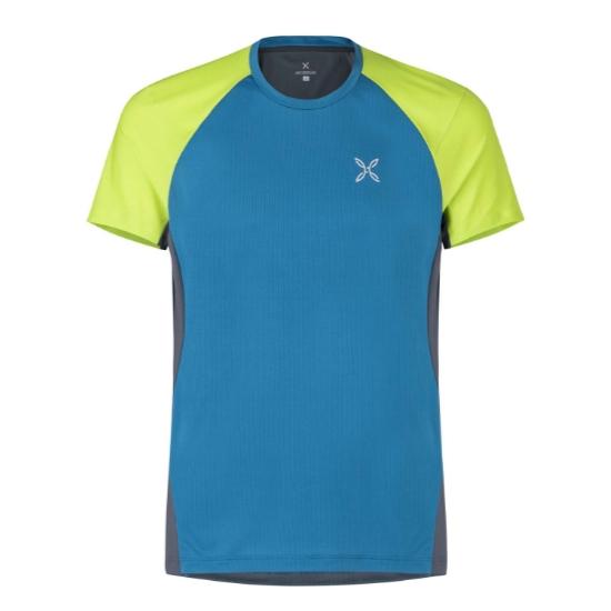 Montura Join T-Shirt - Blu Ottanio/Verde Lime