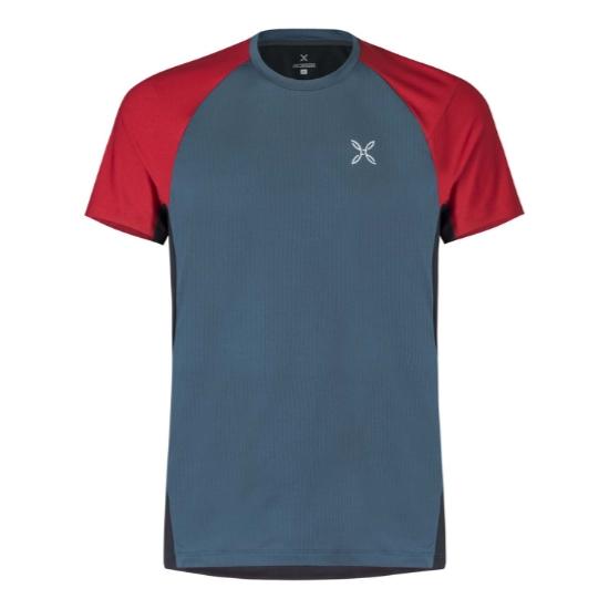 Montura Join T-Shirt - Blu Cenere/Rosso