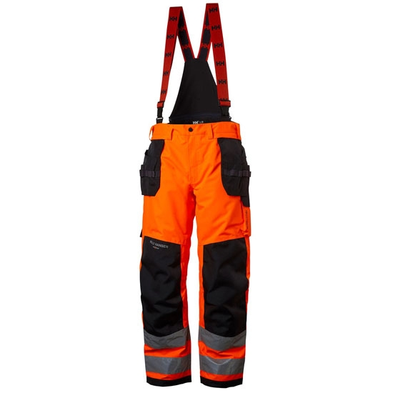 Helly Hansen Workwear Alna Shell Constr Pant - Orange/Ebony