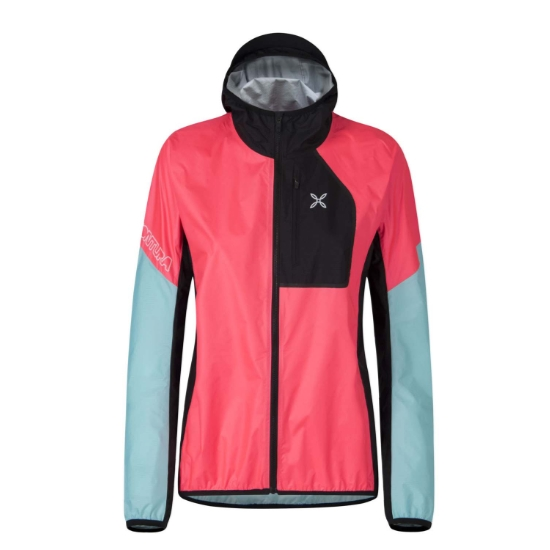 Montura Rain Safe 2.0 Jacket W - Coral Fluo/Ice Blue