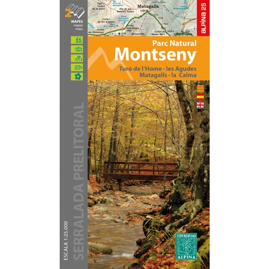 Ed. Alpina Monseny 20-21 1:25.000 -