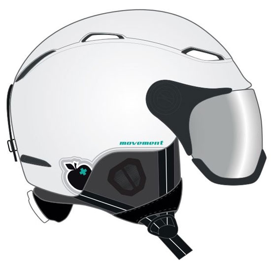 Movement Visor Women Helmet - White